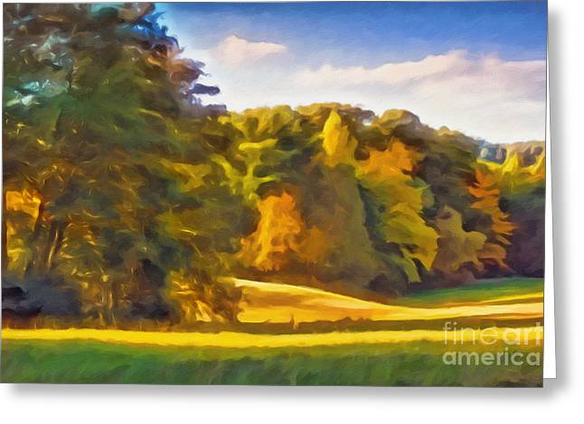 Autumn Mixed Media Greeting Cards - Autumn Light Greeting Card by Lutz Baar