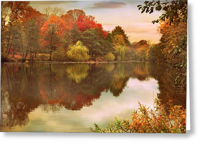 Autumn Landscape Digital Greeting Cards - Autumns Mirror Greeting Card by Jessica Jenney