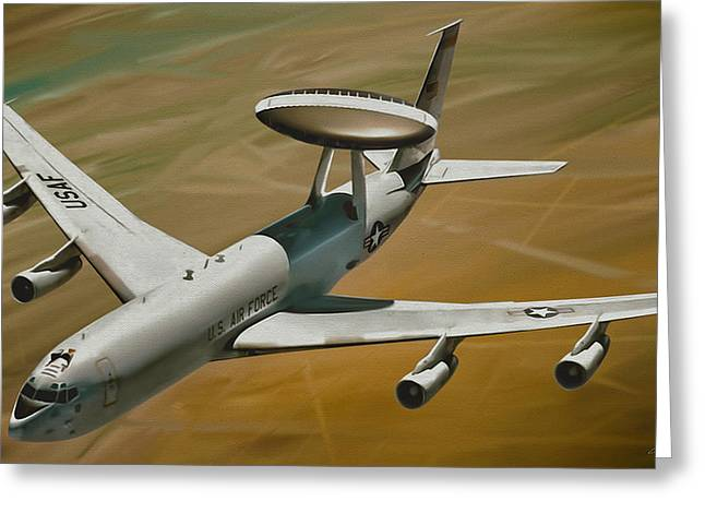 Refueling Greeting Cards - AWACS Up for a Drink Greeting Card by Dale Jackson