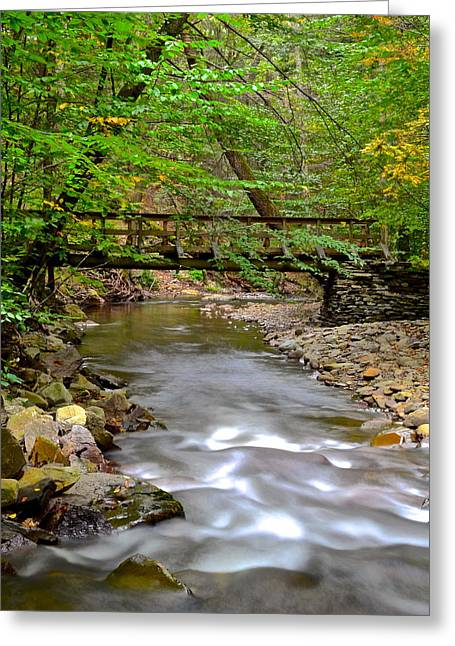 Babbling Brooks Greeting Cards - Babbling Brook Greeting Card by Frozen in Time Fine Art Photography