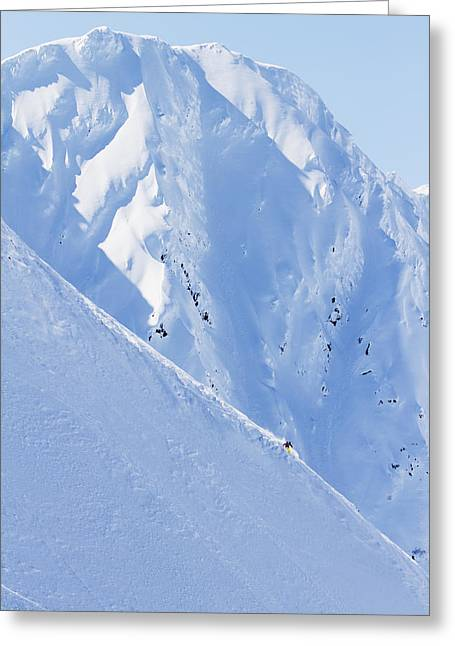 Enjoying Greeting Cards - Backcountry Skiing In The Chugach Greeting Card by Scott Dickerson