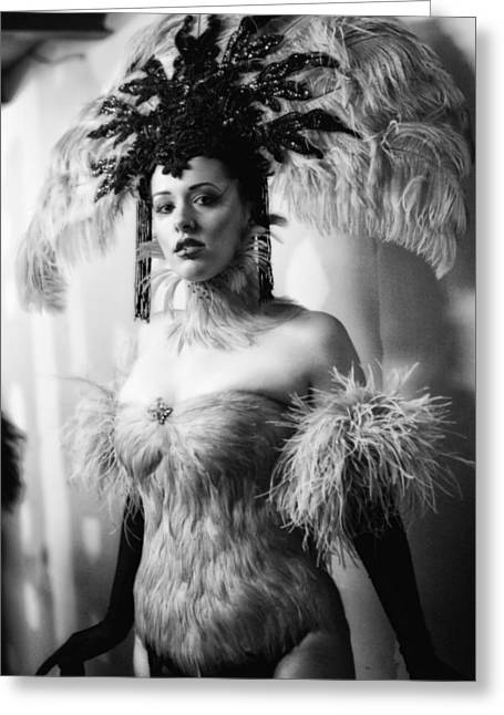Showgirl Greeting Cards - Backstage Greeting Card by H James Hoff