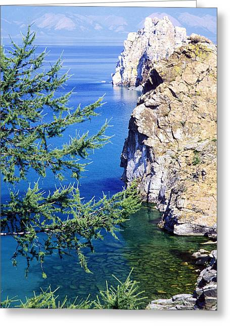 Siberia Greeting Cards - Baikal Olkhon Island Greeting Card by Anonymous