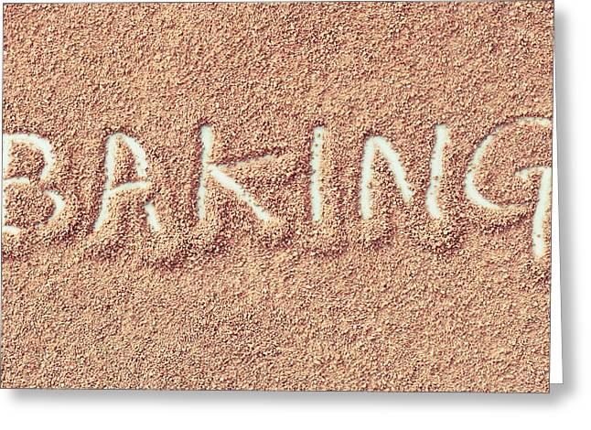Powder Greeting Cards - Baking Greeting Card by Tom Gowanlock