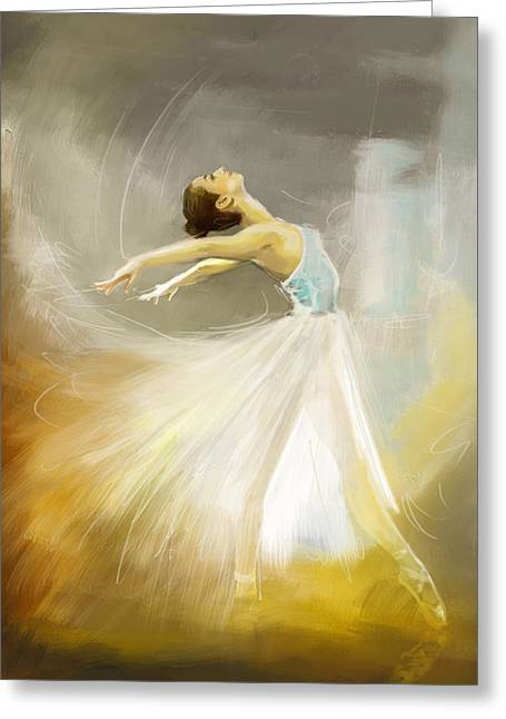 Ballet Dancers Paintings Greeting Cards - Ballerina  Greeting Card by Corporate Art Task Force