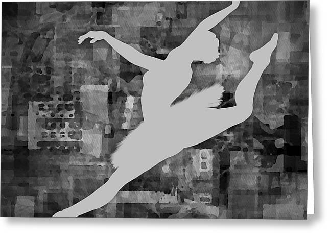 Prima Ballerina Digital Art Greeting Cards - Ballerina Silhouette - Ballet Move 6 Greeting Card by Andre Price