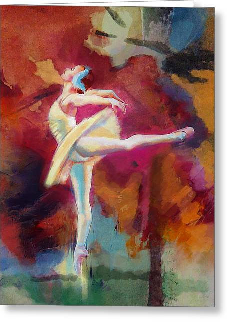 Dancer Art Greeting Cards - Ballet Dancer Greeting Card by Corporate Art Task Force