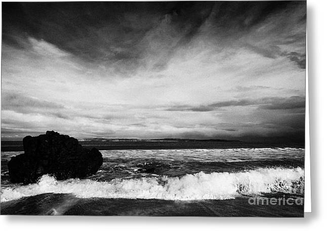 Ballycastle Greeting Cards - Ballycastle Beach In Winter County Antrim Northern Ireland Greeting Card by Joe Fox