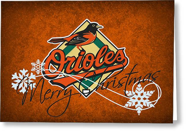 Baltimore Orioles Greeting Cards - Baltimore Orioles Greeting Card by Joe Hamilton
