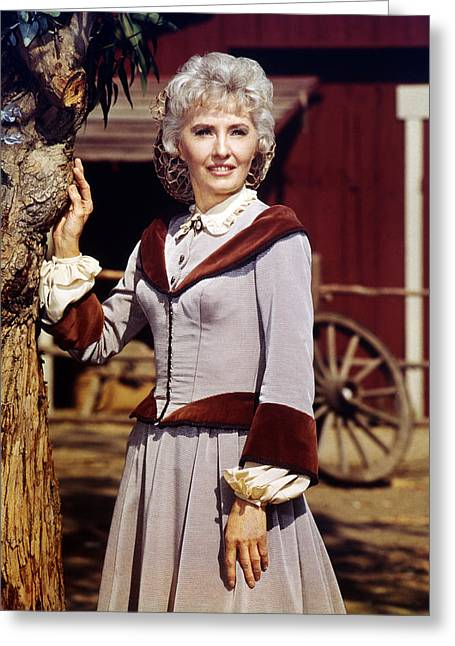 1960 Greeting Cards - Barbara Stanwyck in The Big Valley  Greeting Card by Silver Screen
