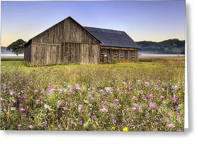 Michigan Farmhouse Greeting Cards - Barn in Sleeping Bear Dunes Greeting Card by Twenty Two North Photography