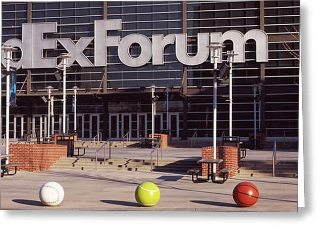 Beale Street Greeting Cards - Basketball Stadium In The City, Fedex Greeting Card by Panoramic Images