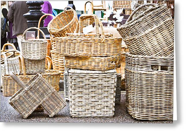 Selection Greeting Cards - Baskets Greeting Card by Tom Gowanlock