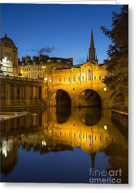 Pulteney Bridge Greeting Cards - Bath England Greeting Card by Brian Jannsen