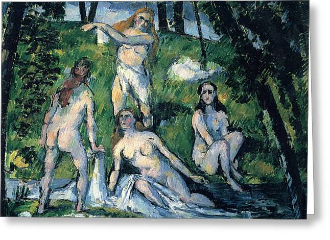John Peter Greeting Cards - Bathers by Cezanne Greeting Card by John Peter