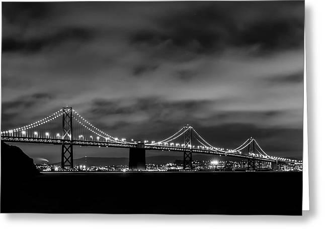 Bay Bridge From Treasure Island Greeting Card by Gej Jones