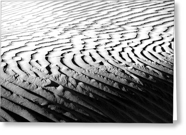 Sand Dunes Pyrography Greeting Cards - Beautiful Sand Dune Formations in Death Valley California Greeting Card by Katrina Brown