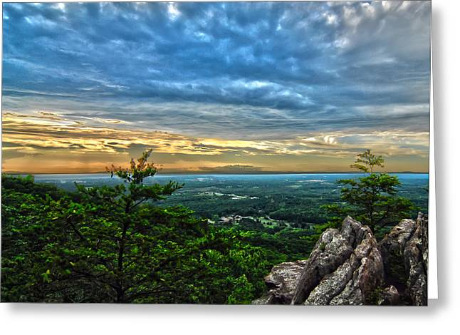 Beautiful Scenery From Crowders Mountain In North Carolina Greeting Card by Alexandr Grichenko
