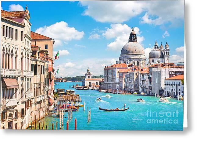 Accademia Greeting Cards - Beautiful Venice Greeting Card by JR Photography