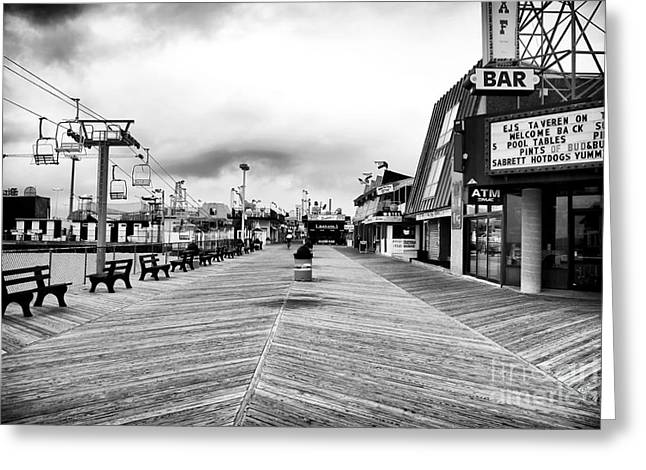 Before the Crowds Greeting Card by John Rizzuto