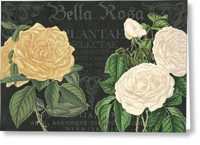 Bella Rosa Square Greeting Card by Gail Fraser