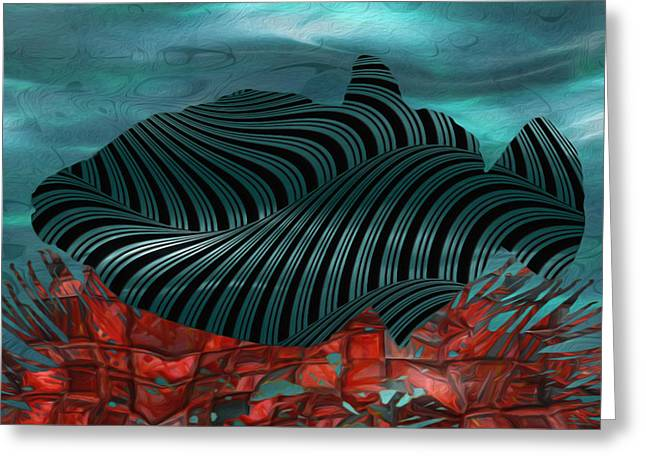 Social Movements Digital Greeting Cards - Beneath The Waves Series Greeting Card by Jack Zulli