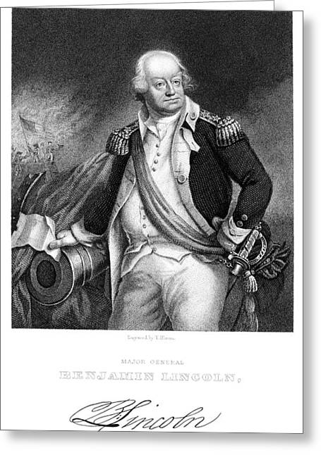 Autograph Greeting Cards - Benjamin Lincoln Greeting Card by Granger
