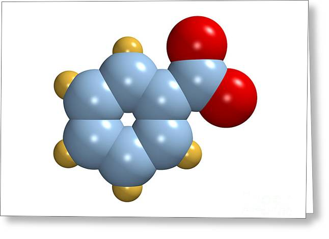 Antiseptic Greeting Cards - Benzoate Ion Greeting Card by Dr. Mark J. Winter