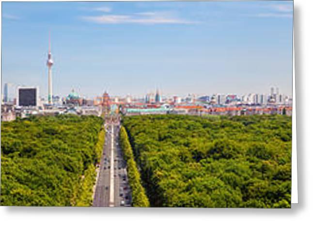 Berlin Germany Greeting Cards - Berlin panorama Greeting Card by Michal Bednarek