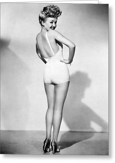 Betty Grable (1916-1973) Greeting Card by Granger