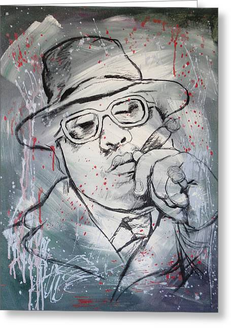 Pop Mixed Media Greeting Cards - Biggie Smalls art painting poster Greeting Card by Kim Wang