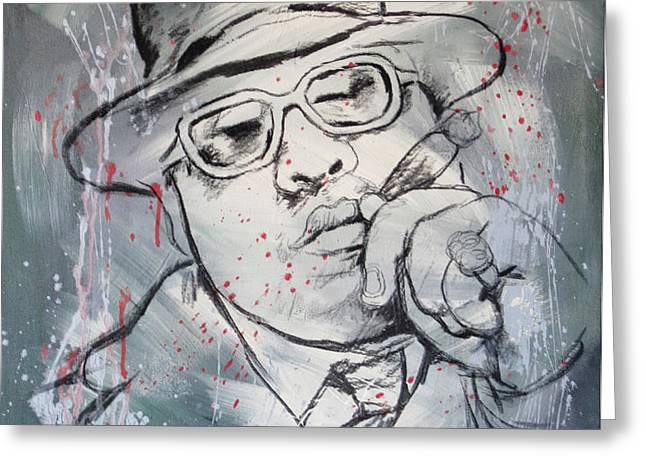 Biggie Smalls art painting poster Greeting Card by Kim Wang