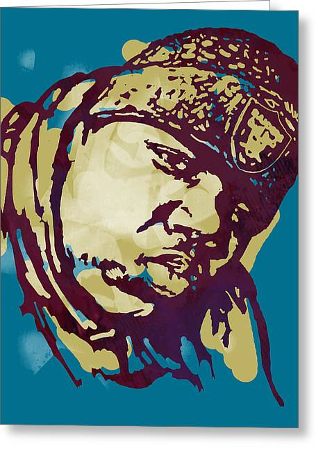 Colours Mixed Media Greeting Cards - Biggie smalls Modern colour etching art  poster Greeting Card by Kim Wang