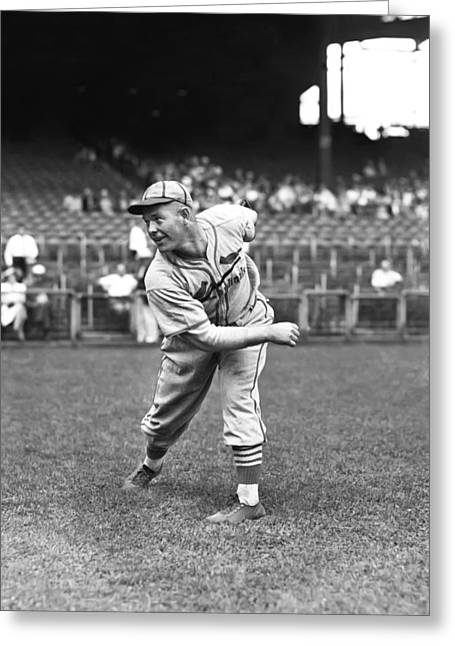 Baseball Uniform Greeting Cards - Bill McGee Greeting Card by Retro Images Archive