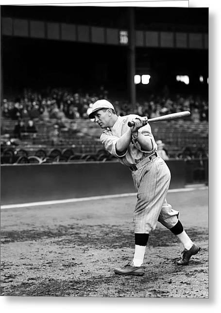 Baseball Bat Greeting Cards - Bill Regan Greeting Card by Retro Images Archive