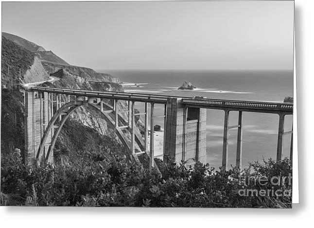 Bixby Bridge Greeting Cards - Bixby Bridge dusk Big Sur California Greeting Card by Ken Brown