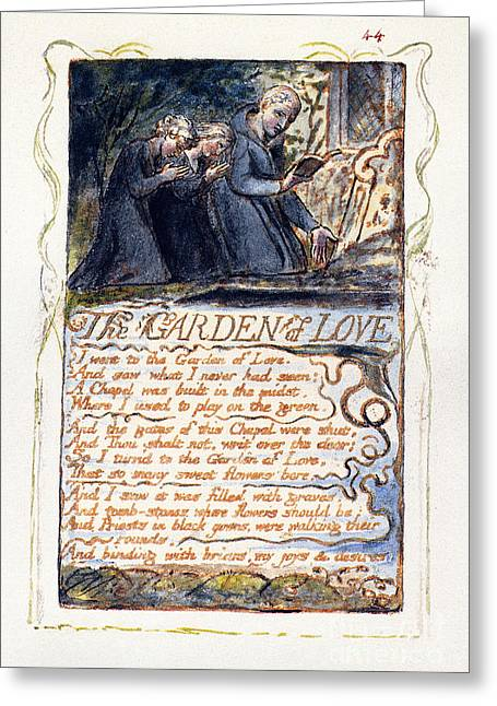 1794 Greeting Cards - Blake: Songs Of Experience Greeting Card by Granger