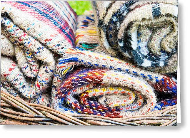 On Blanket Greeting Cards - Blankets Greeting Card by Tom Gowanlock