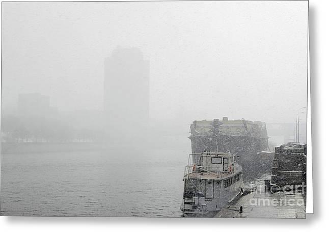 Snowstorm Greeting Cards - Blizzard Greeting Card by RIA Novosti