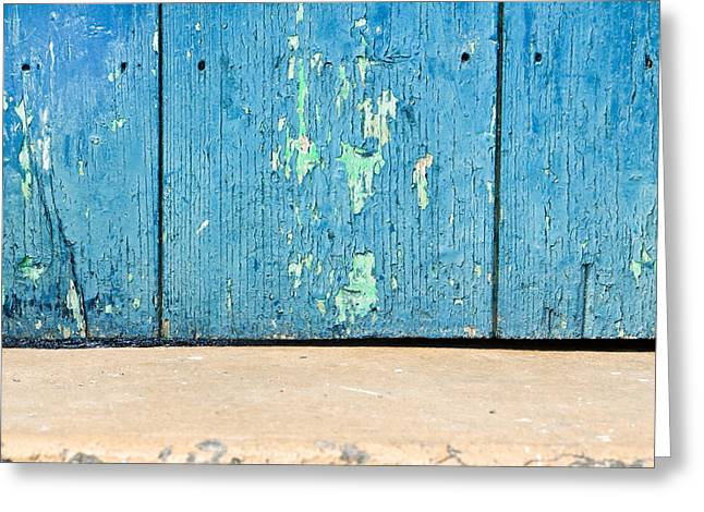 Separate Greeting Cards - Blue wood Greeting Card by Tom Gowanlock
