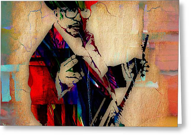 Pop Art Greeting Cards - Bo Diddley Collection Greeting Card by Marvin Blaine