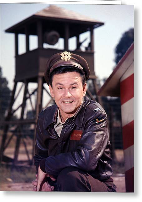 Hogan Greeting Cards - Bob Crane in Hogans Heroes  Greeting Card by Silver Screen