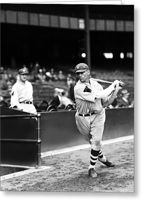 Baseball Bat Greeting Cards - Bobby Reeves Greeting Card by Retro Images Archive