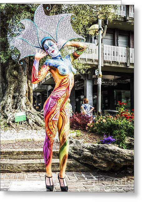Hair Ornaments Greeting Cards - Bodypainting Greeting Card by Traven Milovich