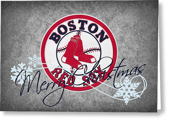 Boston Red Sox Greeting Card by Joe Hamilton