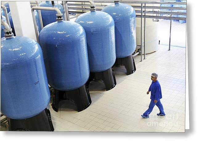 Bottle. Bottling Photographs Greeting Cards - Bottled Water Production Greeting Card by RIA Novosti