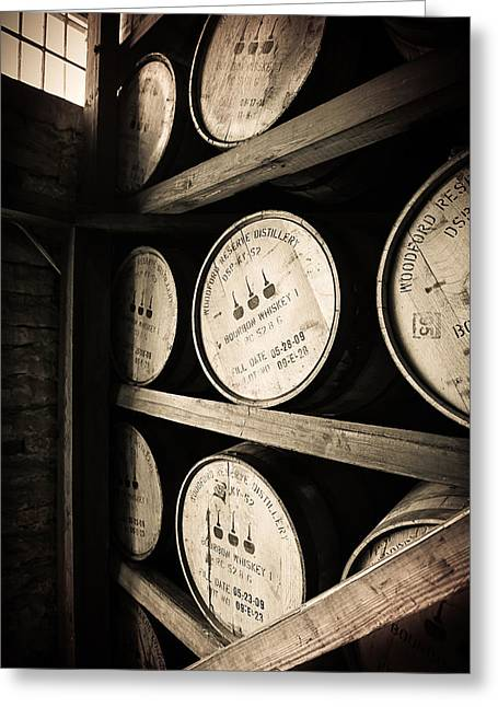 Trails Greeting Cards - Bourbon Barrels Greeting Card by Karen Zucal Varnas