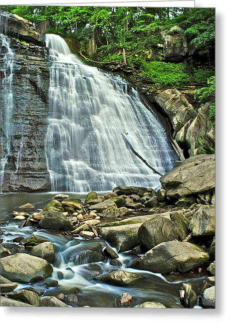 Fishing Creek Greeting Cards - Brandywine Falls Greeting Card by Frozen in Time Fine Art Photography