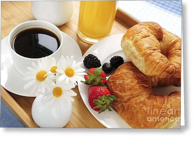 Breakfast Photographs Greeting Cards - Breakfast  Greeting Card by Elena Elisseeva