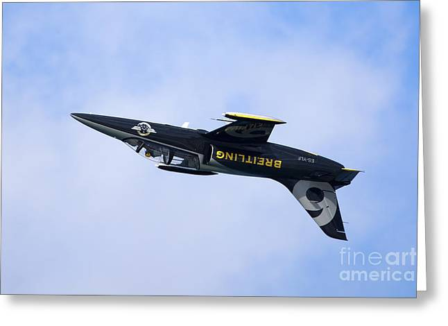 Aerobatic Greeting Cards - Breitling air display team Greeting Card by Nir Ben-Yosef
